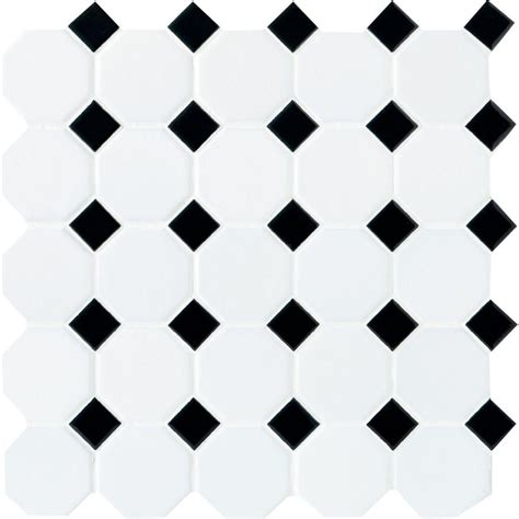 marble mosaic floor tile installation daltile matte white with black dot 12 in x 12 in x 6 mm