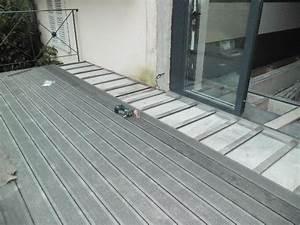 Pose Lame De Terrasse Composite Sans Lambourde : terrasse en bois composite sur dalle beton ~ Premium-room.com Idées de Décoration