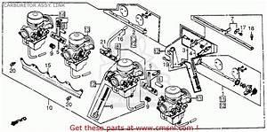 Honda Cb1100f Super Sport 1983  D  Usa Carburetor Assy  Link