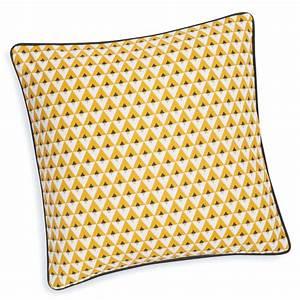 Housse De Coussin Jaune : housse de coussin en coton jaune 40 x 40 cm hilton maisons du monde ~ Teatrodelosmanantiales.com Idées de Décoration