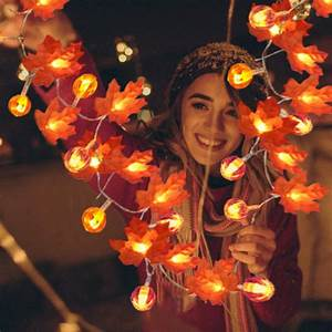 Thanksgiving, Pumpkin, Lights, Decorations, Maple, Fall, String, Lights, Thanksgiving, Fall, Lights, 10