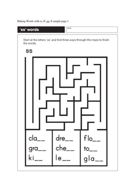 Making Words With Ss, Ff, Gg Ll (17 Pages) By Gmmd  Teaching Resources Tes