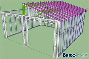 garage ossature bois With plan de garage en bois