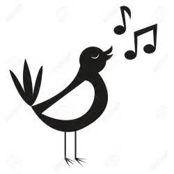 Songbird clipart bird singing - Pencil and in color ...
