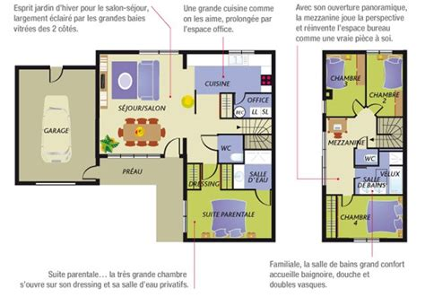 plan maison à étage 4 chambres construction maison neuve nacre lamotte maisons