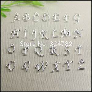 260pcs silver plated metal alphabet letter a z letters With metal alphabet letters for jewelry