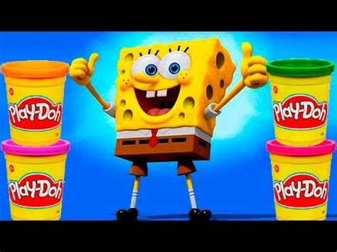 Spongebob Play doh STOP MOTION video Animación de Bob