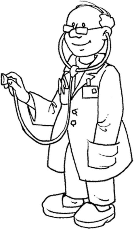 14920 doctor clipart black and white doctor coloring page get coloring pages