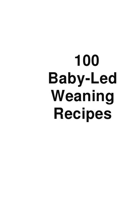 Free Download Ebook Baby Led Weaning