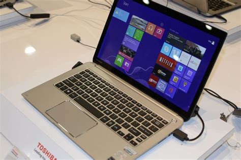 toshibas  laptops  updated kirabook ces