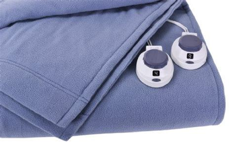 Soft Heat Luxury Micro-fleece Low-voltage Electric Heated Queen Size Blanket, Slate Blue ** Want Electric Blanket Controls For Jaundice Nice Baby Blankets Bears Fleece Circo Stars And Stripes Homemade Ideas Throws Target