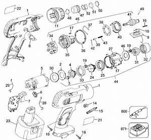 Dewalt Dw970 Cordless Impact Driver Parts  Type 2  Parts