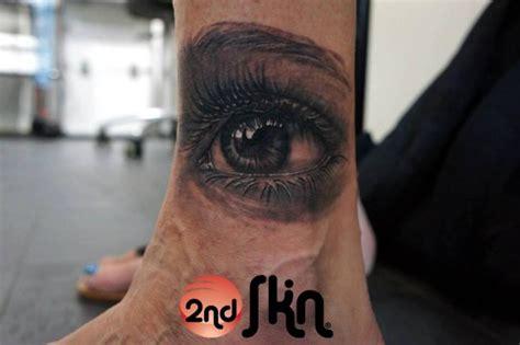 realistic foot eye tattoo   skin