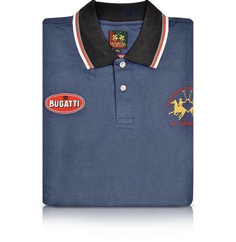 Bugatti Shirts Sale by Bugatti Eb Blue Cotton Pique Polo Shirt By La Martina Xl