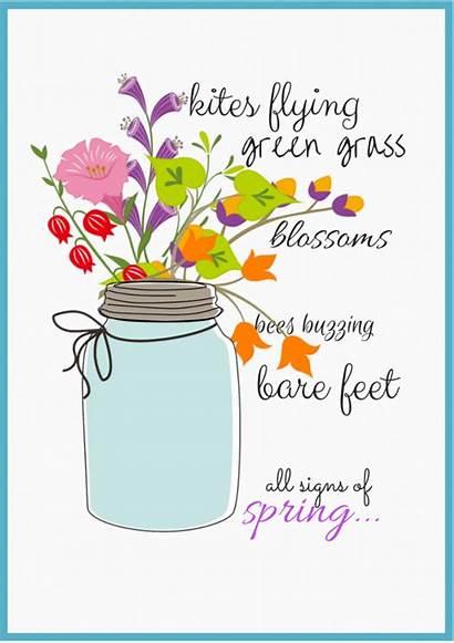 Spring Signs Clipart Quotes Printables Jar Mason