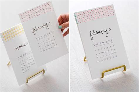 ideen für fotokalender selbst gestalten kalender bl 228 tter ausdrucken und auf einen st 228 nder stellen