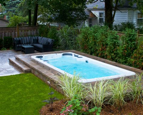 Backyard Swimming Pools Above Ground by Pin By The Spa Shoppe On Swim Spa Install Ideas In 2019