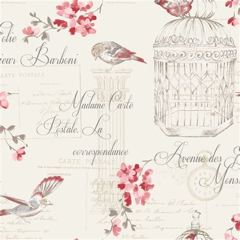 holden decor floral bird cage aviary french typography