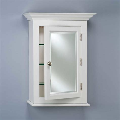 in wall medicine cabinet afina wilshire 25 quot wall mount mirrored medicine cabinet