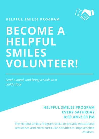 customize  volunteer flyer templates  canva