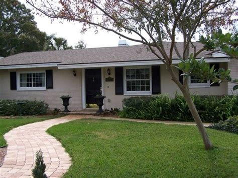 exterior paint ideas for ranch style block homes