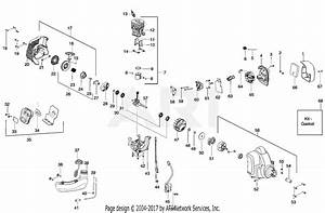 Poulan Ppb330 Gas Trimmer Type 1 Parts Diagram For Engine Assembly
