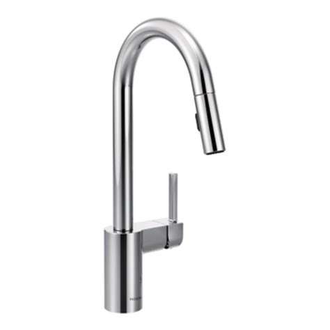 modern faucets for kitchen moen 7565 align one handle high arc pulldown kitchen