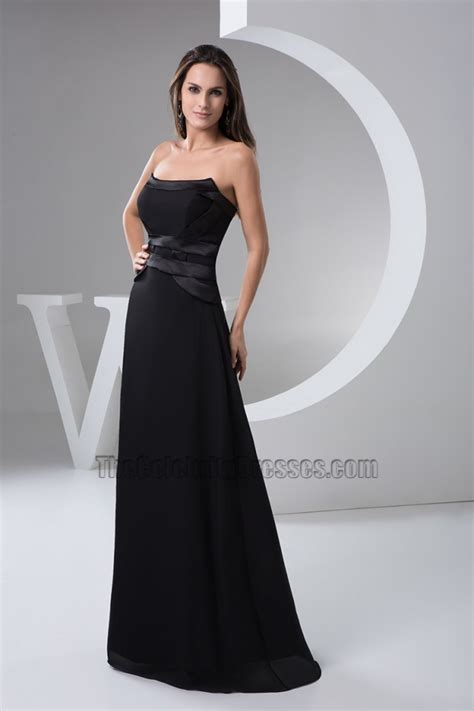 length black dress floor length black strapless evening dress prom gown Floor