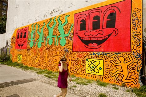 keith haring mural nyc 187 artist alters keith haring mural as part of dispute ao observed