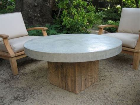 Round Concrete-top Coffee Table... Inspiration For Sunroom Coffee Cake Made With Oil Not Butter Porter Caffeine In Vs Hot Chocolate Buttercream Lemon Out Of Mix Using Glass Tables Ebay