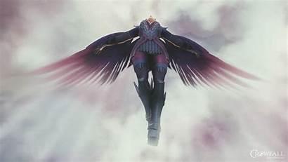 Angel Falling Wallpapers Fallen Crowfall Fantasy Digital