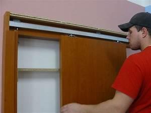 Montáž posuvných dveří na stěnu