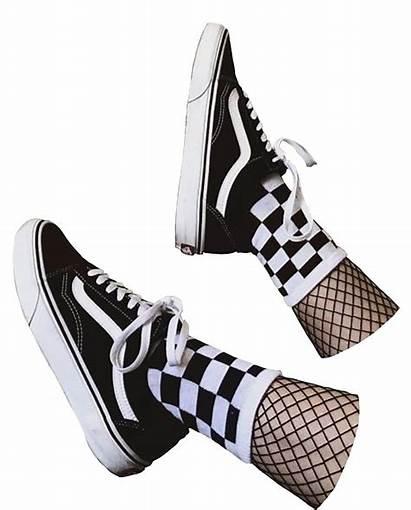 Vans Aesthetic Skate Goth Fishnets Stickers Sneakers
