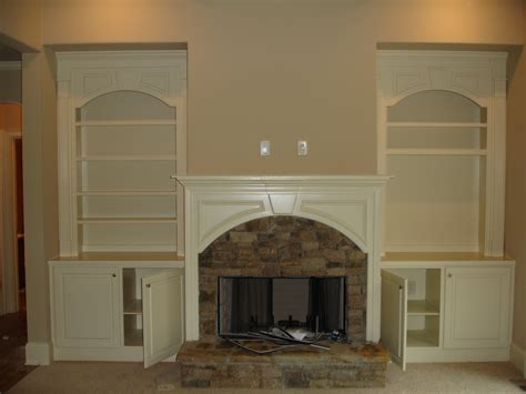 bookcases next to fireplace classic white painted pine wood built in bookshelves