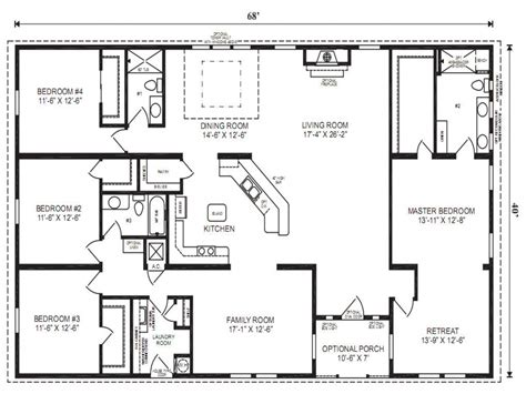 Wide Mobile Home Floor Plans by Mobile Modular Home Floor Plans Clayton Wide Mobile
