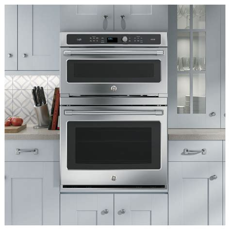 ctshss ge cafe  combination  clean convection double wall oven stainless steel