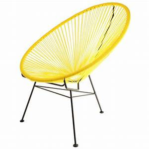 Fauteuil Acapulco Maison Du Monde : fauteuil acapulco jaune la chaise longue ~ Teatrodelosmanantiales.com Idées de Décoration