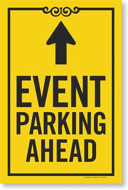 Parking Event Arrow Ahead K2 Signs Insert