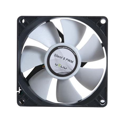and cold fan gelid solutions silent 8 8cm 80mm computer case 4 pin pwm