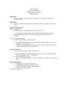 teacher resume objective ideas exles daycare helper resume