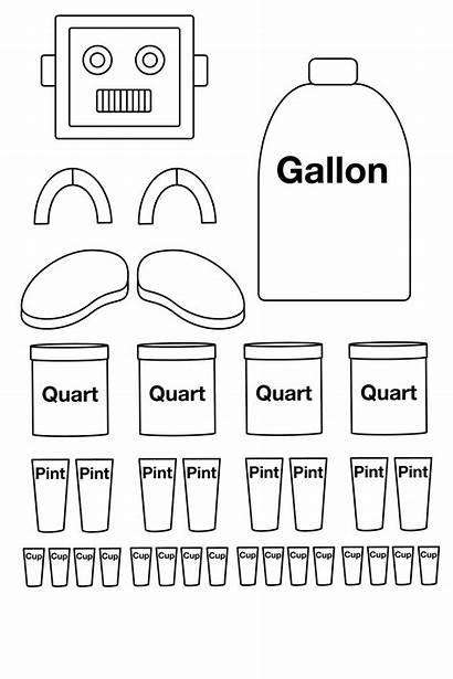 Gallon Math Measurement Robot Activities Teaching Measuring