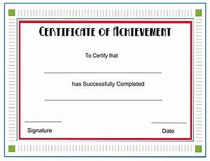 achievement certificate template new calendar template site With certificate of attainment template