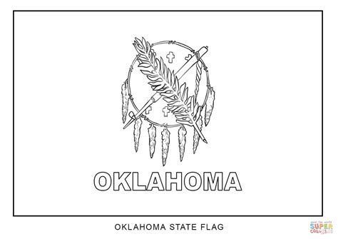 flag  oklahoma coloring page  printable coloring pages