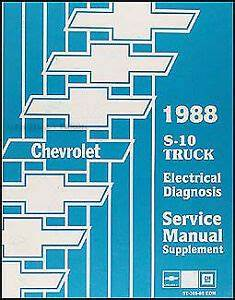 1991 S10 Wiring Diagram : 1988 chevy s 10 pickup and blazer electrical diagnosis ~ A.2002-acura-tl-radio.info Haus und Dekorationen