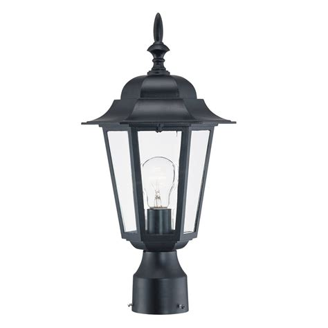 lowes l post lights shop acclaim lighting camelot 16 75 in h matte black post