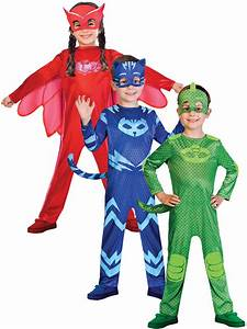 Boys PJ Masks Costume Boys Girls Superhero Fancy Dress ...