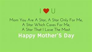 Short Mother's Day Poems 2018 | Poems For Mother's Day ...