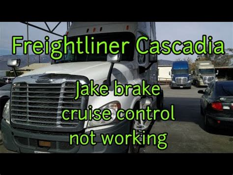 Freightliner Cascadia Cruise Control Jake Brake