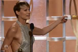 Best Double Sided Carpet Tape robin wright accepts golden globe award after sideshow on