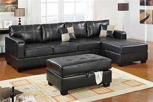 small black leather sectional sofa dobson black leather With dobson modern sectional sofa